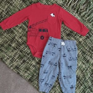 EUC Carter's Fire Engine Outfit